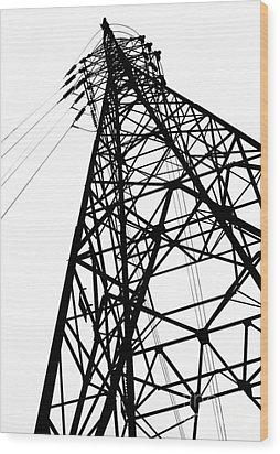 Large Powermast Wood Print by Yali Shi
