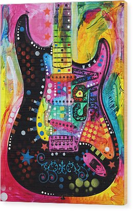 Lenny Strat Wood Print by Dean Russo
