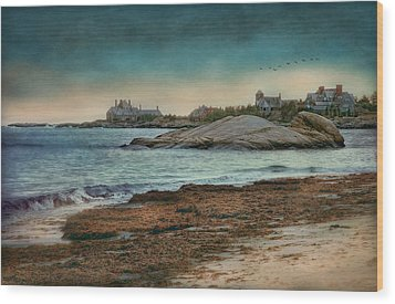 Newport State Of Mind Wood Print by Robin-lee Vieira