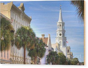 St Michaels Church Charleston Sc Wood Print by Dustin K Ryan