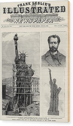Statue Of Liberty, 1885 Wood Print by Granger
