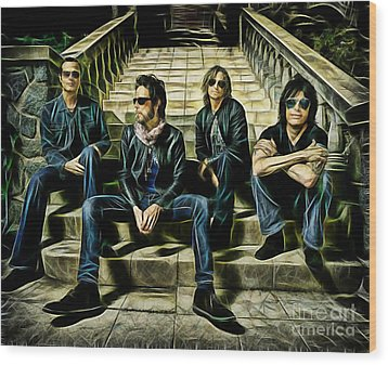 Stone Temple Pilots Collection Wood Print by Marvin Blaine