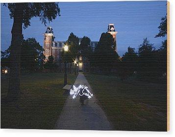 University Of Arkansas Wood Print by Chris  Look
