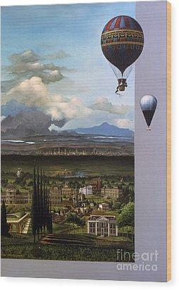 200 Years Of Ballooning Wood Print by Jane Whiting Chrzanoska