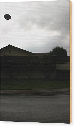 2004 Ufo Hovering Over My House Wood Print by Michael Ledray