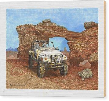 2005 Jeep Rubicon 4 Wheeler Wood Print by Jack Pumphrey