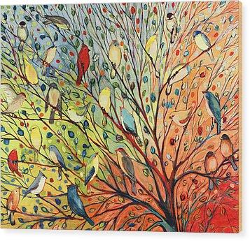 27 Birds Wood Print by Jennifer Lommers