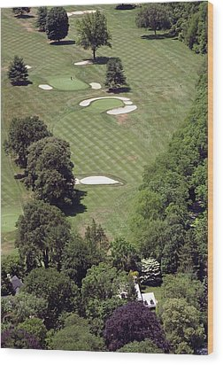 2nd Hole Philadelphia Cricket Club St Martins Golf Course Wood Print by Duncan Pearson