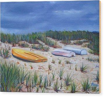 3 Boats Wood Print by Paul Walsh