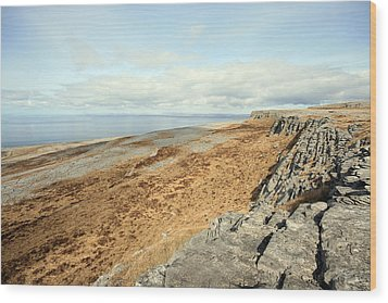 Burren View Wood Print by John Quinn