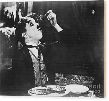 Chaplin: Gold Rush. 1925 Wood Print by Granger