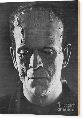 Frankenstein, 1931 Wood Print by Granger