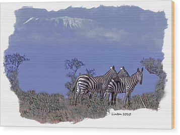 Kilimanjaro Wood Print by Larry Linton