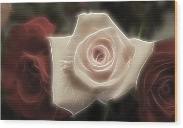 3 Little Roses For Patrice Wood Print by Kevin  Sherf