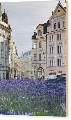 Streets Of Prague Wood Print by Andre Goncalves