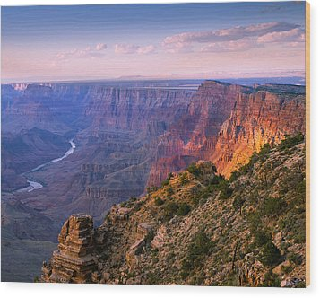 Canyon Glow Wood Print by Mikes Nature