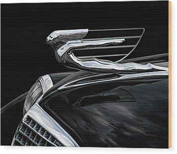 37 Cadillac Hood Angel Wood Print by Douglas Pittman