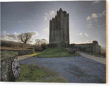 Dysert O Dea Castle Wood Print by John Quinn