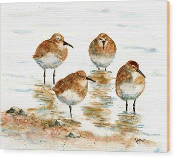 4 Little Pipers Wood Print by Marsha Elliott