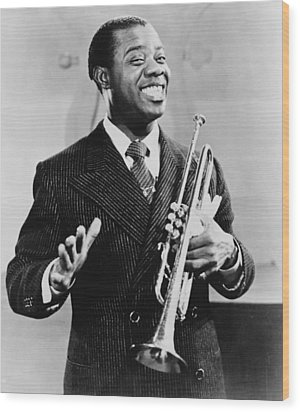Louis Armstrong 1901-1971, African Wood Print by Everett