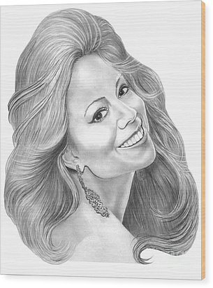 Mariah Carey  Wood Print by Murphy Elliott