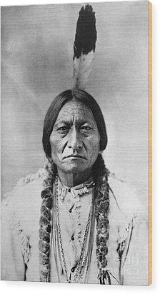 Sitting Bull (1834-1890) Wood Print by Granger