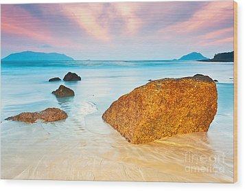 Sunrise Wood Print by MotHaiBaPhoto Prints