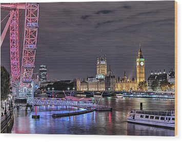 Westminster - London Wood Print by Joana Kruse