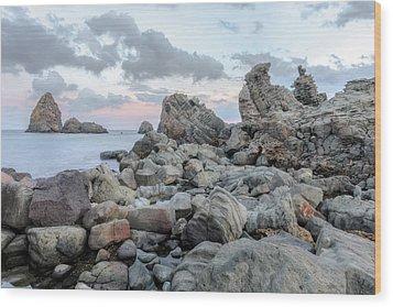 Aci Trezza - Sicily Wood Print by Joana Kruse