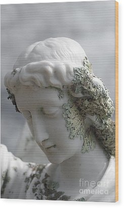 Grieving Angel Wood Print by Yurix Sardinelly