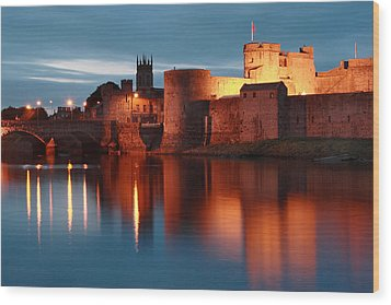King John's Castle Limerick Ireland Wood Print by Pierre Leclerc Photography