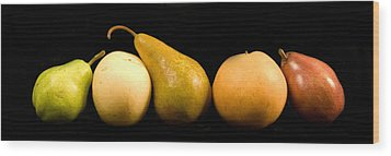 5 Pears Wood Print by Cabral Stock