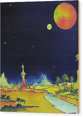 Planet X Wood Print by James Smith