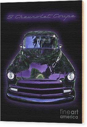 51chevrolet Coupe Wood Print by Peter Piatt
