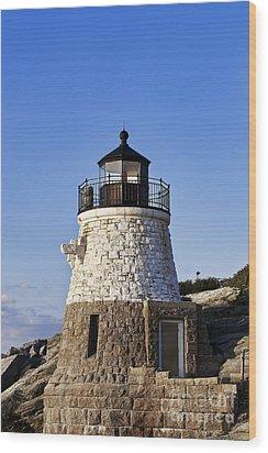 Castle Hill Lighthouse Wood Print by John Greim