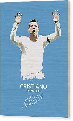 Cristiano Ronaldo Wood Print by Semih Yurdabak