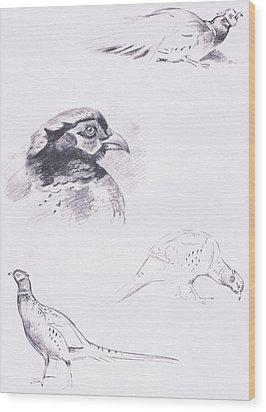 Pheasants Wood Print by Archibald Thorburn