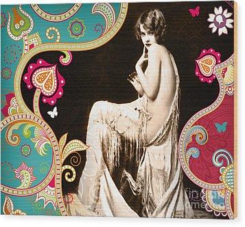 Goddess Wood Print by Chris Andruskiewicz