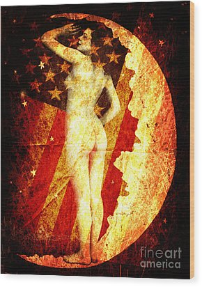 Winsome Woman Wood Print by Chris Andruskiewicz