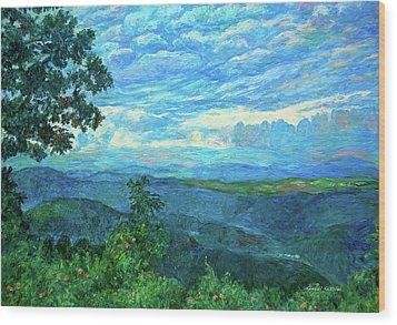 A Break In The Clouds Wood Print by Kendall Kessler