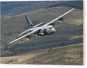 A C-130 Hercules Of The Royal Air Force Wood Print by Andrew Chittock