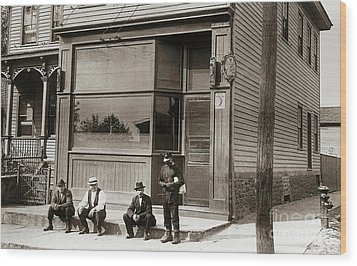 A Coal Miners Bar  George Ave Parsons Pennsylvania Early 1900s Wood Print by Arthur Miller