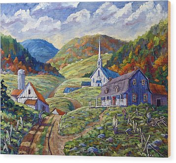 A Day In Our Valley Wood Print by Richard T Pranke