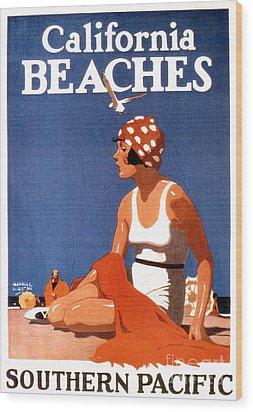 California Beaches Wood Print by Jon Neidert