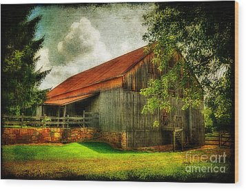 A Farm-picture Wood Print by Lois Bryan