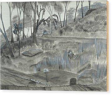 A Fond Memory... No. Two Wood Print by Robert Meszaros