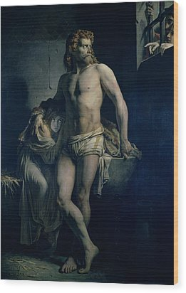 A Gaul And His Daughter Imprisoned In Rome Wood Print by Felix-Joseph Barrias