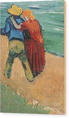 A Pair Of Lovers Wood Print by Vincent Van Gogh