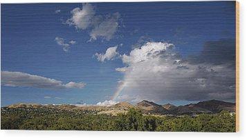 A Rainbow In Salt Lake City Wood Print by Rona Black