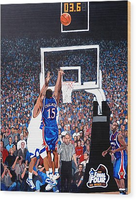 A Shot To Remember - 2008 National Champions Wood Print by Tom Roderick